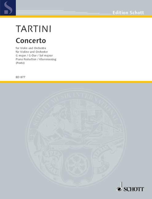 Concerto In G Major Major Major Tartini, Giuseppe rojoucción de piano con un violín solista parte 3c49d4